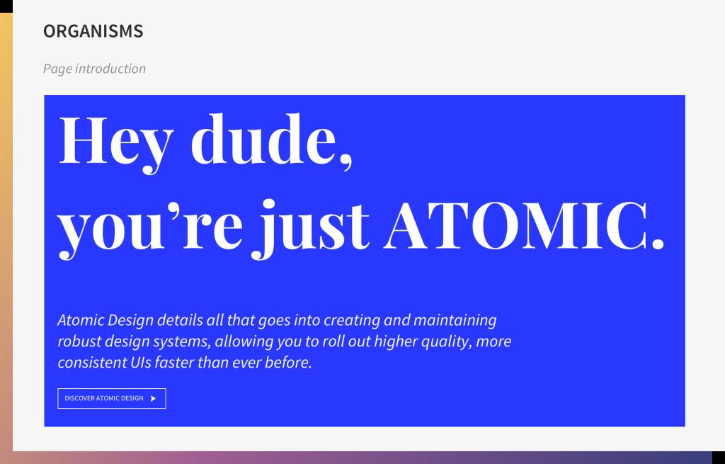 ORGANISMS 1024x655 1024x655 Atomic Design: la morte programmata delle pagine web