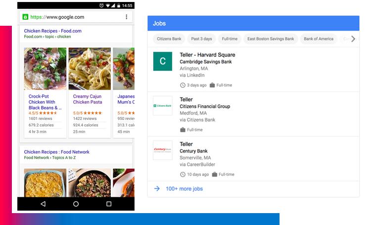 google job receipes Quando Google sostituirà il 100% del tuo sito web