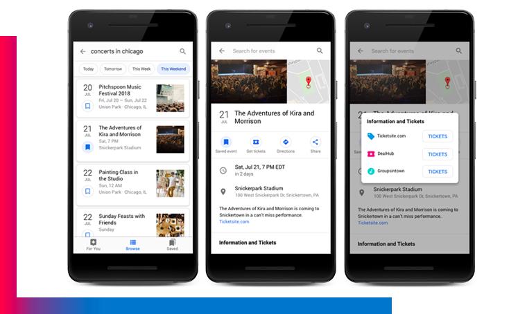 google tickets Quando Google sostituirà il 100% del tuo sito web